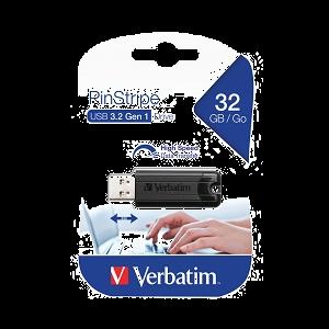 Verbatim Pinstripe USB 3.0 Flash Drive 32GB Black